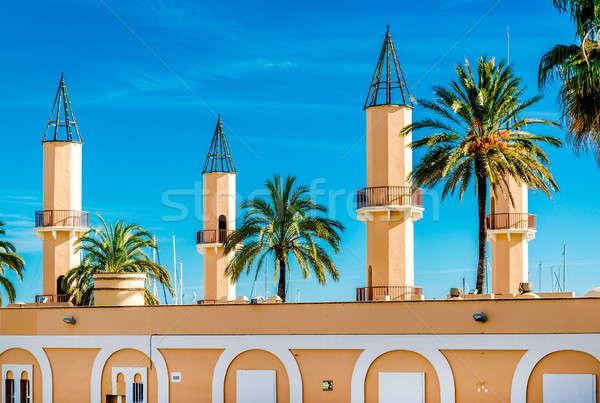 здании порта малага южный Испания синий Сток-фото © amok