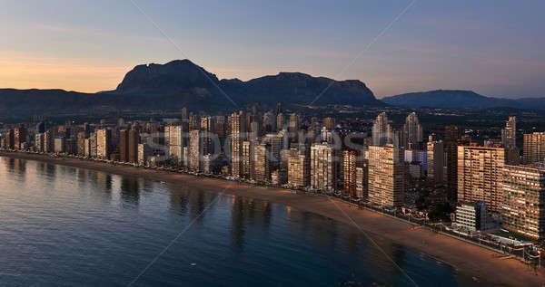 Ville coucher du soleil Espagne modernes Photo stock © amok