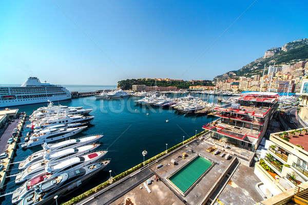 Vue Monaco port nature été Voyage Photo stock © amok