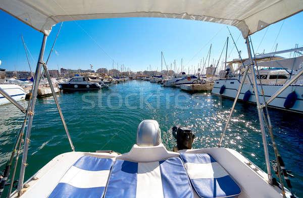 Port of Torrevieja city. Costa Blanca. Spain Stock photo © amok