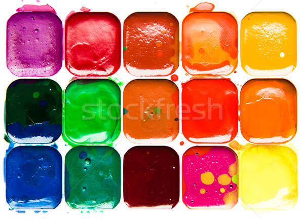 Watercolor paintbox close-up Stock photo © amok