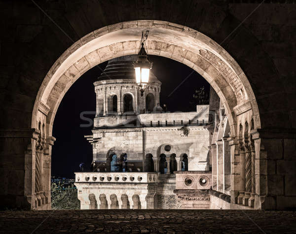 Stock photo: Fisherman's Bastion at night. Budapest, Hungary