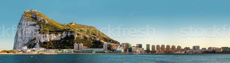 Dzień widoku gibraltar brytyjski południowy Zdjęcia stock © amok