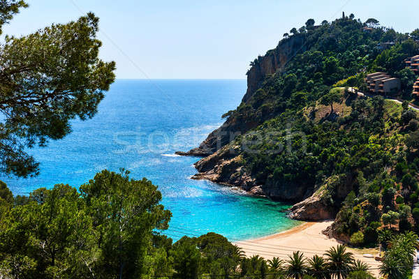 Empty Cala Giverola beach. Spain Stock photo © amok