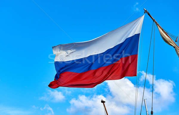 Flag of Russia against blue sky Stock photo © amok