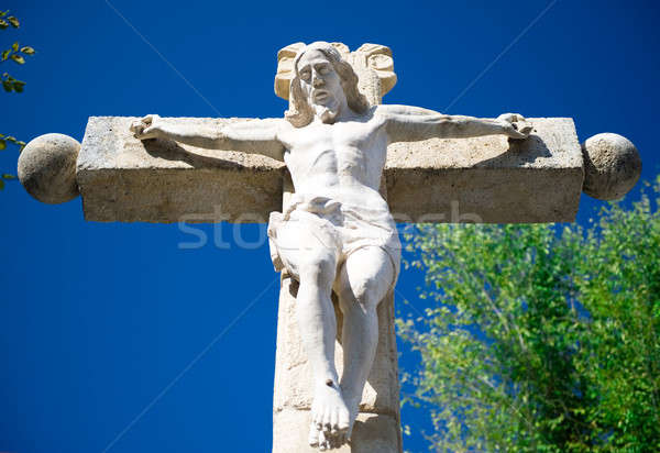 Jesus Christ on a crucifix Stock photo © amok