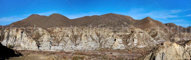 Panorama of Tabernas Desert in Spain Stock photo © amok