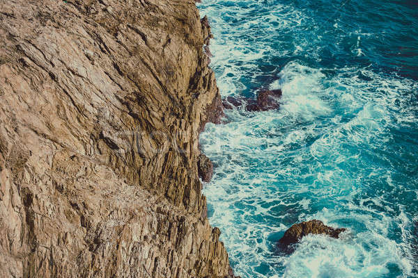 Rocky coast of Portman. Located between La Manga and Cartagena.  Stock photo © amok
