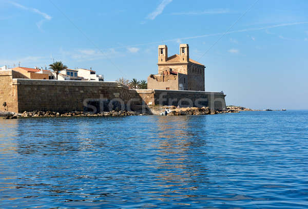 Church of St. Peter and St. Paul in the Island of Tabarca. Spain Stock photo © amok