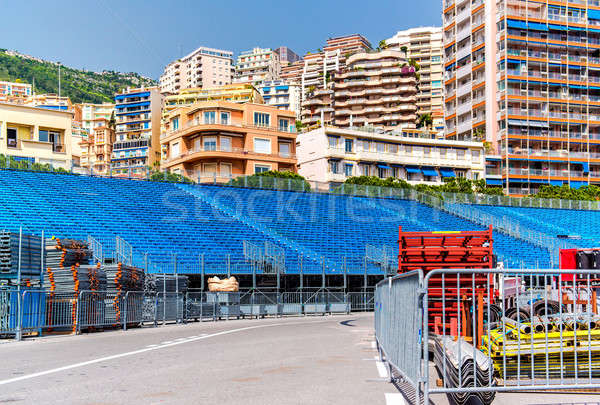 Tribune. Preparation to Formula 1 Monaco Grand Prix Stock photo © amok