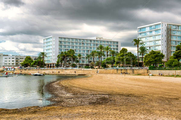 View of Platja de ses Figueretes, lovely small beach in Ibiza. S Stock photo © amok