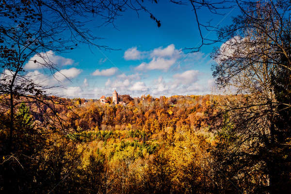 Turaida Castle over picturesque autumn landscape Stock photo © amok