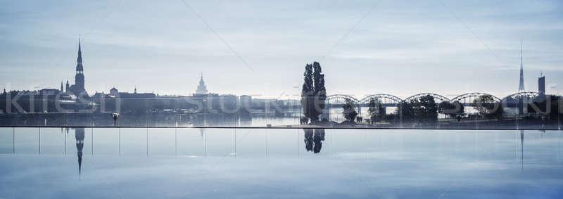 красивой мнение Рига город Латвия пейзаж Сток-фото © amok