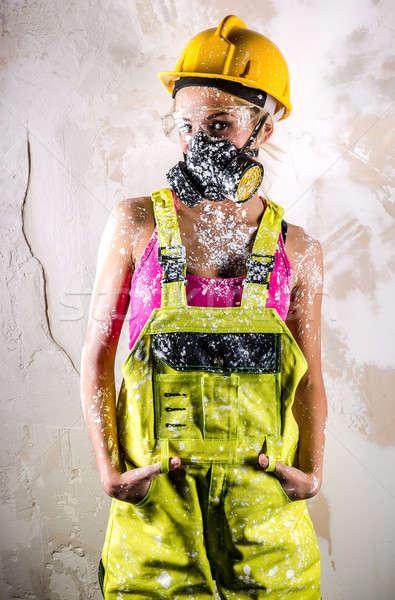 Female construction worker  Stock photo © amok