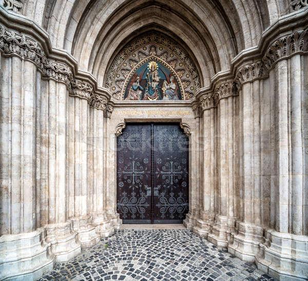 Entrance to the Matthias Church. Budapest, Hungary Stock photo © amok