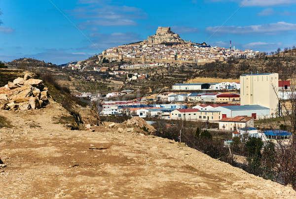 Breathtaking view of Morella town. Spain Stock photo © amok