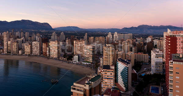 Aerial view of a Benidorm city coastline. Costa Blanca, Spain Stock photo © amok