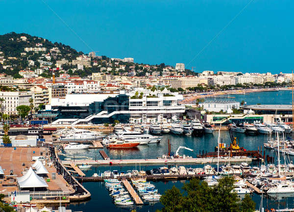 Panoramic view of Le Suquet- the old town,  Port Le Vieux and La Stock photo © amok