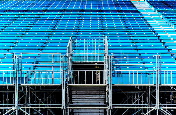 Empty blue seats on a tribune   Stock photo © amok