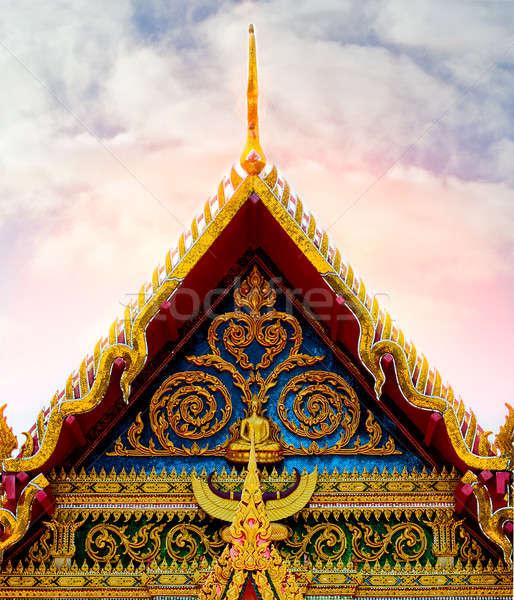 Budista templo Tailândia céu igreja nuvem Foto stock © amok