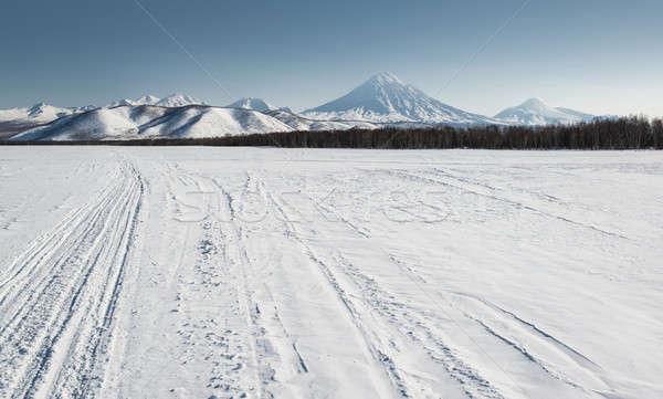 View of Avachinsky and Koryaksky volcanoes Stock photo © amok