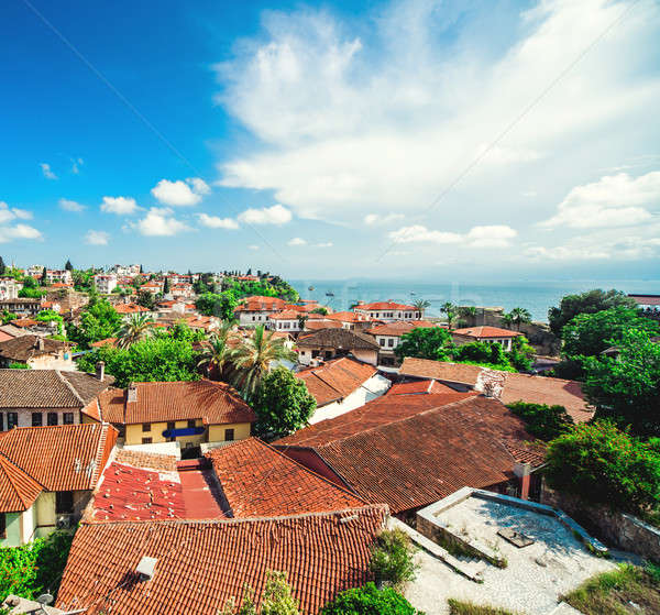 Alanya cityscape. Turkish resort Stock photo © amok