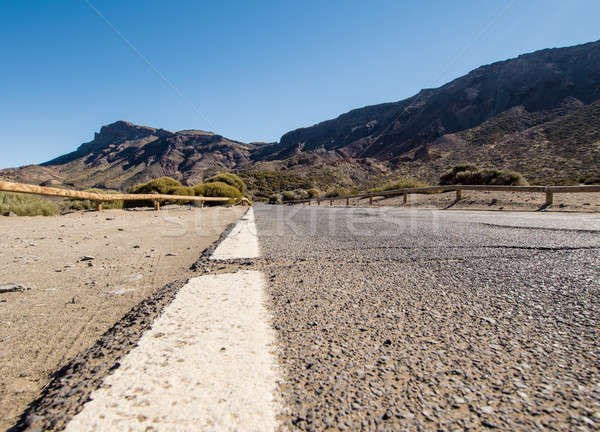Estrada vulcão tenerife canárias Espanha céu Foto stock © amok