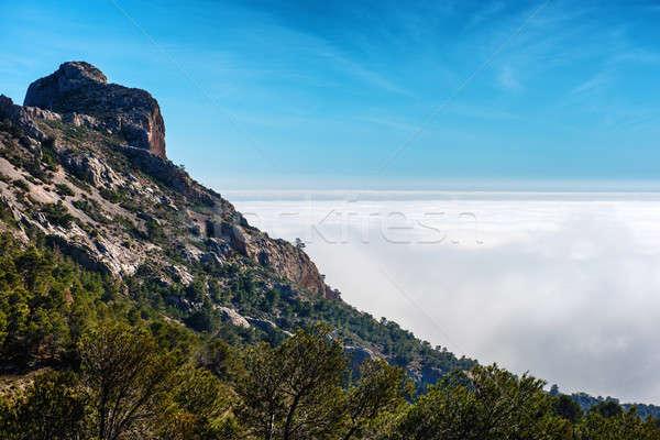 Magas hegyek Spanyolország kicsi bájos falu Stock fotó © amok