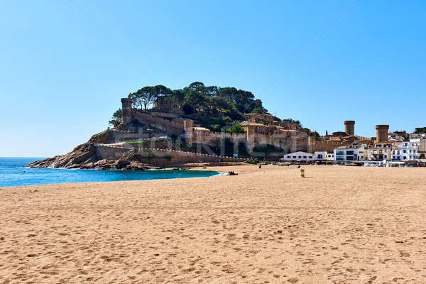 Tossa de Mar Castle. Costa Brava, Spain Stock photo © amok