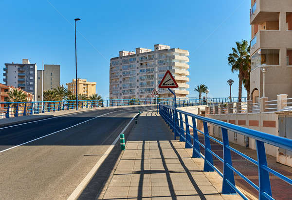 Bascule bridge of La Manga. Spain Stock photo © amok