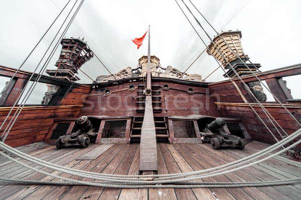 Stock photo: Detail of Galeone Neptune ship