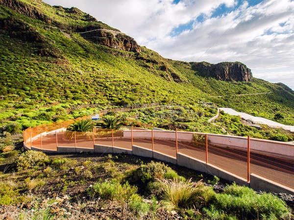 Road and rocks of Los Gigantes Stock photo © amok