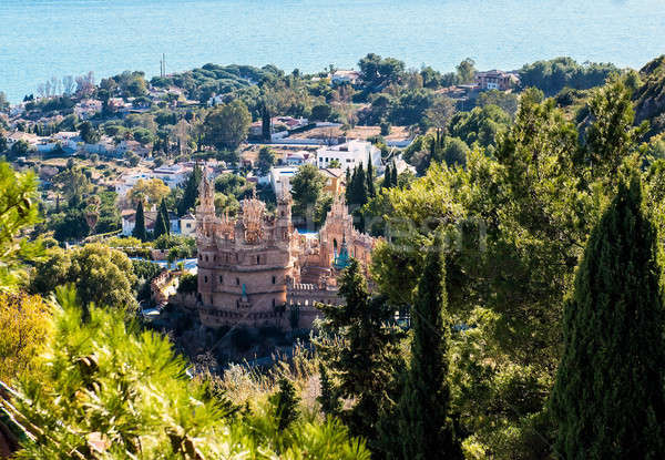 View of the Benalmadena town and Colomares castle. Malaga, Spain Stock photo © amok