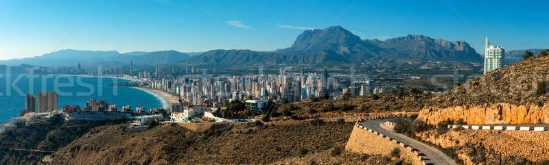 Panoramique vue ville ciel paysage Photo stock © amok