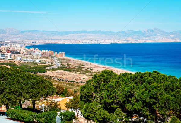 Kustlijn Spanje top landschap berg Stockfoto © amok