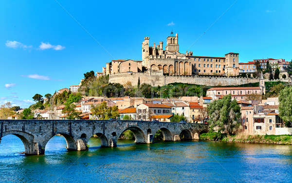 Beziers town. France Stock photo © amok
