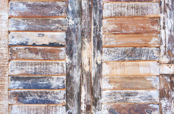 Oude haveloos houten textuur achtergrond meubels Stockfoto © amok