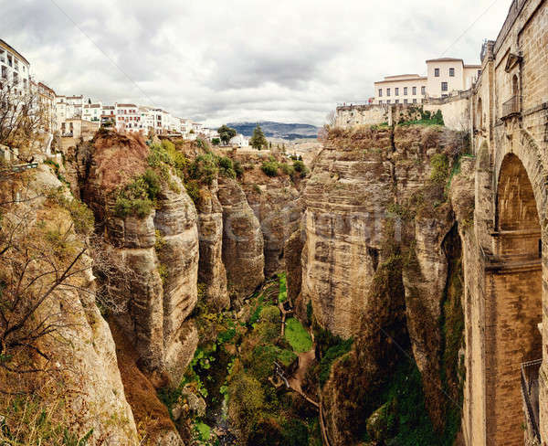 Amazing view of the Ronda canyon and the famous white village. P Stock photo © amok