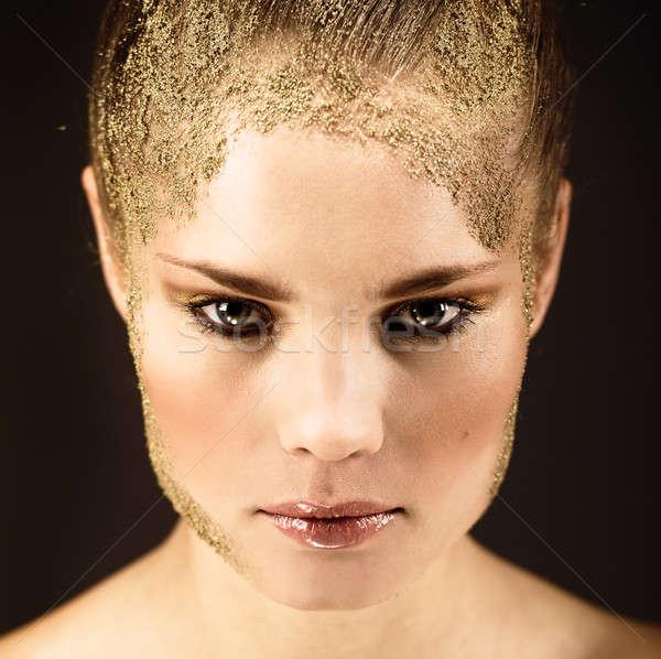 Cara belo mulher jovem moda arte retrato Foto stock © amok