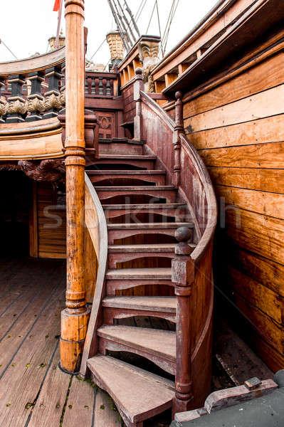 подробность судно туристическая достопримечательность древесины история антикварная Сток-фото © amok