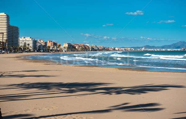 Kustlijn Spanje gemeenschap populair toeristische bestemming Stockfoto © amok