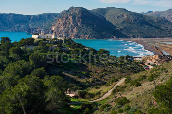 Lighthouse El Hoyo in Portman village, Cartagena. Spain Stock photo © amok