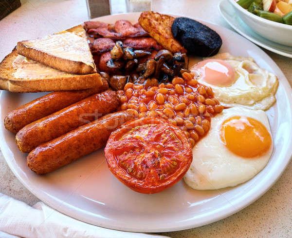 ストックフォト: 伝統的な · フル · 英語 · 朝食 · フライド · 卵