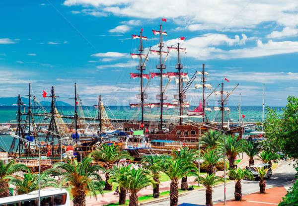 Widoku rejs portu Turcja chmury miasta Zdjęcia stock © amok