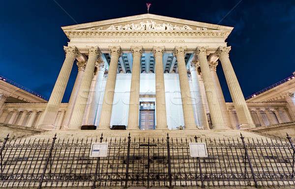Budapest magyar múzeum éjszaka épület város Stock fotó © amok
