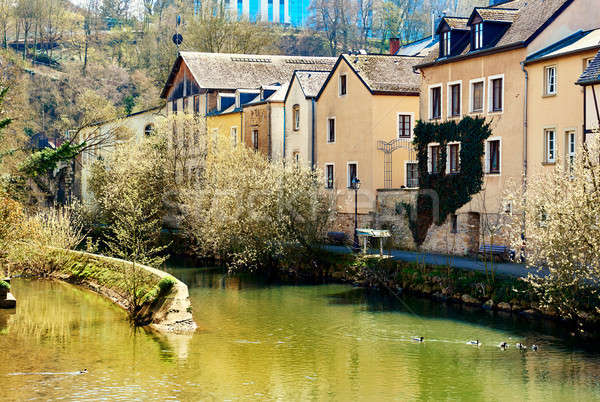 View of the Luxembourg City and the Alzette river Stock photo © amok