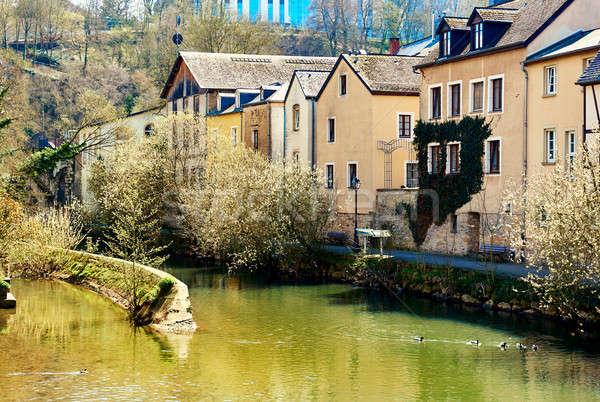 Luxemburg stad rivier schilderachtig westerse Stockfoto © amok
