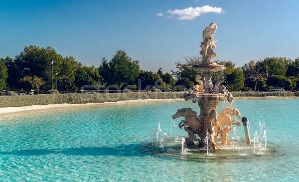 View of Neptune Fountain in Baroque style. Battery Park, Torremo Stock photo © amok