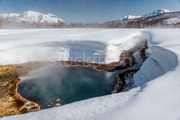 Stock photo: Griffin Ivanova, hot spring in the Nalichevo National Park