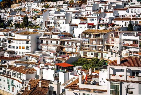 Charming little white village of Mijas. Costa del Sol, Andalusia Stock photo © amok